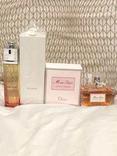 DIOR PERFUME (Dior Addict & Absolutely Blooming) 100ml NEW