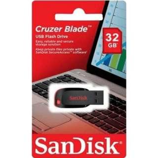 Flashdisk USB Sandisk 32GB Cruzer Blade