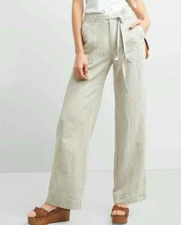 GAP Stripe Blue Linen Pants