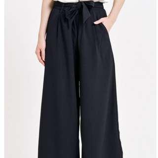 Dara Women Culottes: Avani Wide Leg Pants in Black