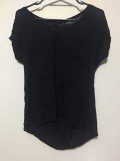 Plain black tshirt