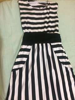 Stripes Dress (Free size small-large)