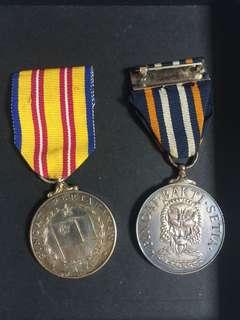 [TSHSE] Pingat Pertahanan & Pingat Bakti Setia Medal