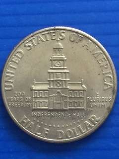 USA 200 years Independent Commemorative Half Dollar 1976
