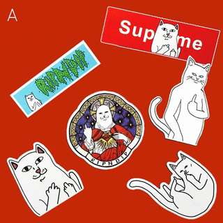 Rip & Dip Lord Nermal x Supreme waterproof stickers