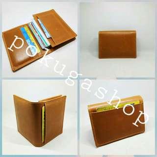 Dompet kartu premium pull up leather / dompet kulit asli garut /dompet cardholder