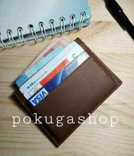 Dompet kartu minimalist / dompet cardholder / card holder kulit