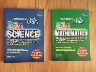 PSLE Science and Math Assessment Books