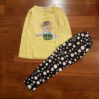 Pyjamas bear kuning