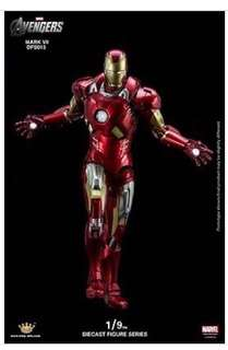 KING ARTS  COLLECTION 1/9 Scale DFS013 Diecast MARK VII IRON MAN Price: 12,280