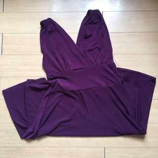 Purple Sleeveless Dress