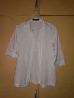 White semi long sleeves