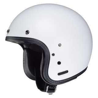 HJC Adult IS-5 SIZE MEDIUM AND SMALL ONLY 3/4 Retro Bucket Cafe Racer Classic Retro Motorbike Motorcycle Helmet Semi Flat White