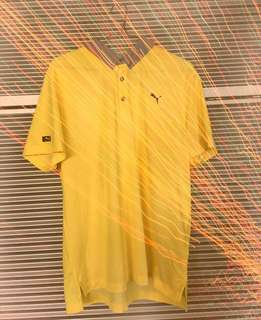 Yellow vintage puma top