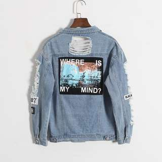 Where Is My Mind? Ripped Denim Jacket