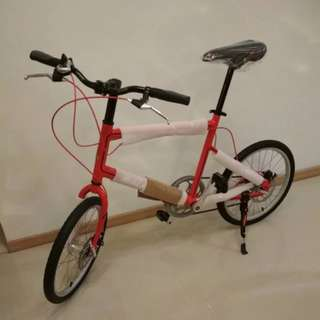 Raleigh Mini Velo 7 Bicycle (Disc Brakes) - Red