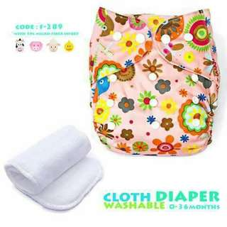 Cloth Diaper with FREE 1pc Microfiber Insert - F289
