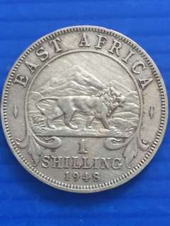 East Africa One Shilling 1948