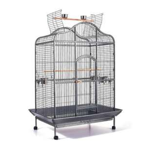 Extra Large Bird Cage With Perch Made Of Heavy Duty Wrought Iron