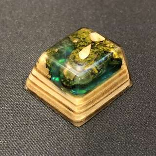 Jelly Key Emerald Cliff Artisan Keycap