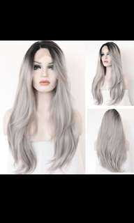 Front Lace Hair Wig In Gray PO