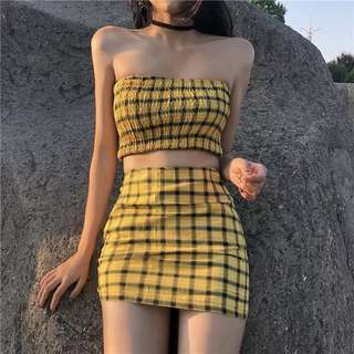 checkered tube 2 piece set