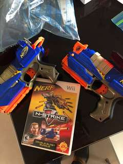 Wii Nerf guns and game cg