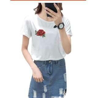 Ready Stock - Women T-Shirt Casual Top Shirt - White