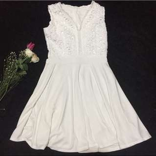 White Self Portrait Formal Dress