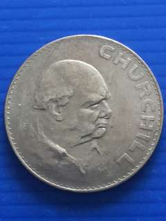 Uk Churchill Commemorative One Crown 1965, Big Coin