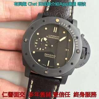 仁譽面交   PANERAI PAM508 SUBMERSIBLE CERAMIC 47MM 陶瓷錶 VS工廠V2版 2018款面交