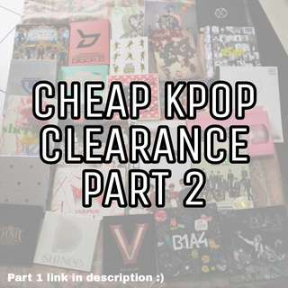 CHEAP KPOP CLEARANCE LIST PART 2