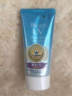 Biore uv aqua rich watery essence sunscreen spf 50+
