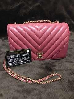 *Sale!!* Chanel chevron gold chain bag