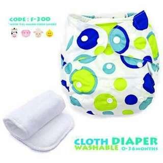 Cloth Diaper with FREE 1pc Microfiber Insert - F300