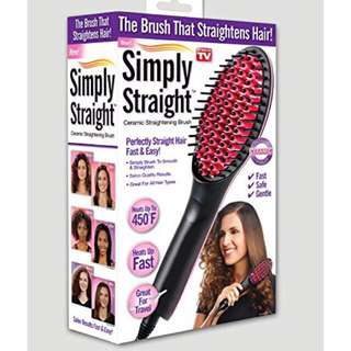 SIMPLY STRAIGHT BRUSH STRAIGHTENER