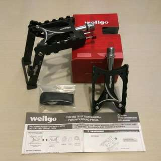 Bicycle Wellgo C238 Pedals with Foldable Stand