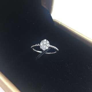 18K白金 24份鑽石 戒指 18K White Gold 24ct Diamond Ring 可議價