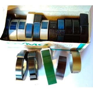 Dymo Embossing Tape Label (Black, Blue, Green, Gold, Brown, Red)