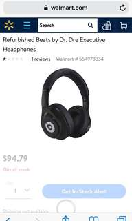 Refurbished Beats by Dr. Dre Executive Headphones 耳機