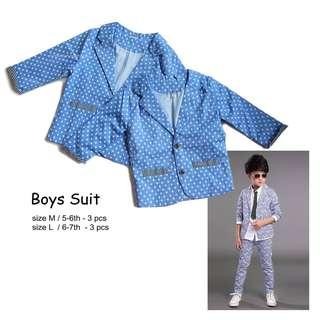 NEW Boys suit blue starry