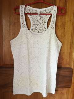 Aero Lace Sleeveless Racerback