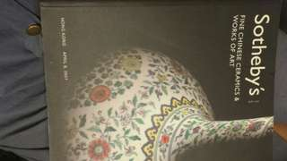 Sotheby's fine chinese ceramics and works of art 蘇富比2007 古玩書籍