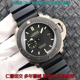 仁譽面交   PANERAI PAM389 鈦殼47MM 陶瓷圈 VS工廠新品