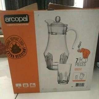 Water Jug Arcopal Minuman Gelas Set