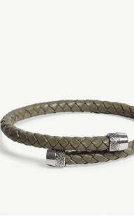 英國直送🇬🇧TED BAKER Knurling woven leather bracelet