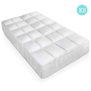 King Single Size Duck Feather & Down Mattress Topper