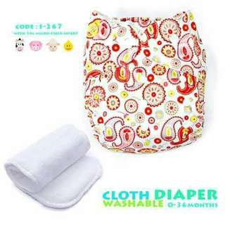 Cloth Diaper with FREE 1pc Microfiber Insert - F267