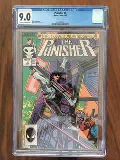 Punisher 1987 Series Marvel Comics #1 CGC 9.0