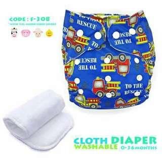 Cloth Diaper with FREE 1pc Microfiber Insert - F308